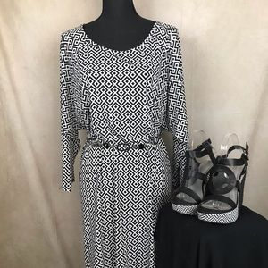 MK Michael Kors | Geometric Dress | Blk & White L